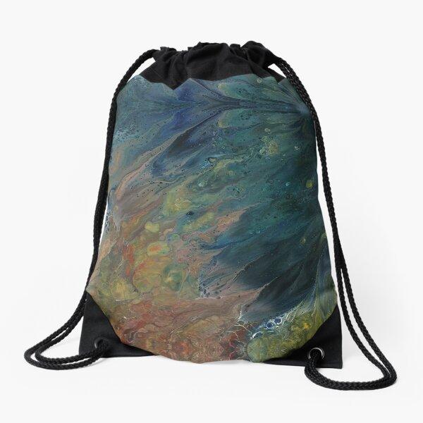 The River Dreams of Spring Drawstring Bag