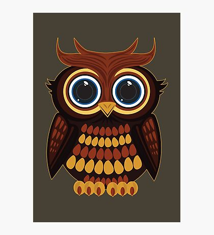 Friendly Owl - Army Photographic Print