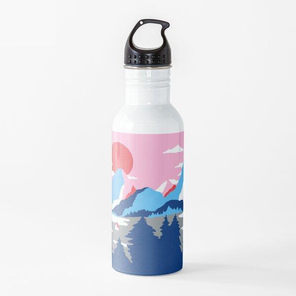 Valle de la montaña Botella de agua