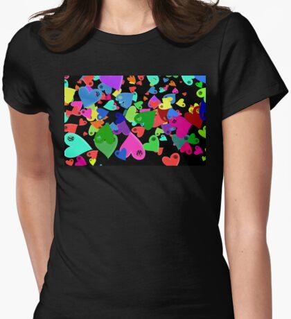 VW Love Hearts on Black T-Shirt