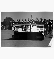 Muscle Milk Porsche RS Spyder Prototype Mosport Monochrome Poster