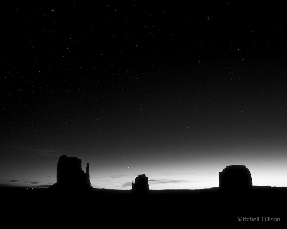 Starry Night:  The Mittens and Merrick Butte by Mitchell Tillison