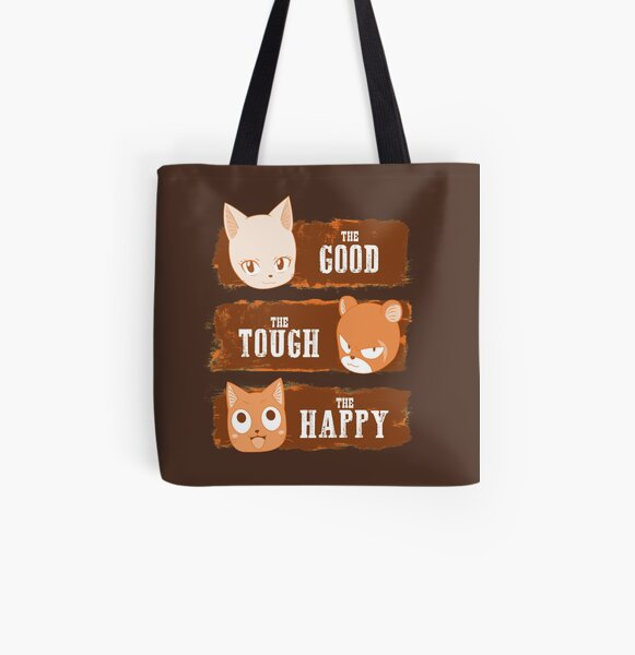 The Good, The Tough and The Happy All Over Print Tote Bag