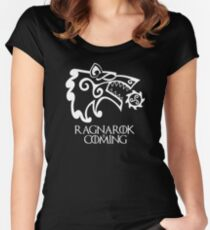Ragnarok is Coming (redesign) Women's Fitted Scoop T-Shirt