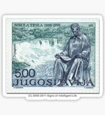 Tesla Stamp (Yugoslavia) II Sticker