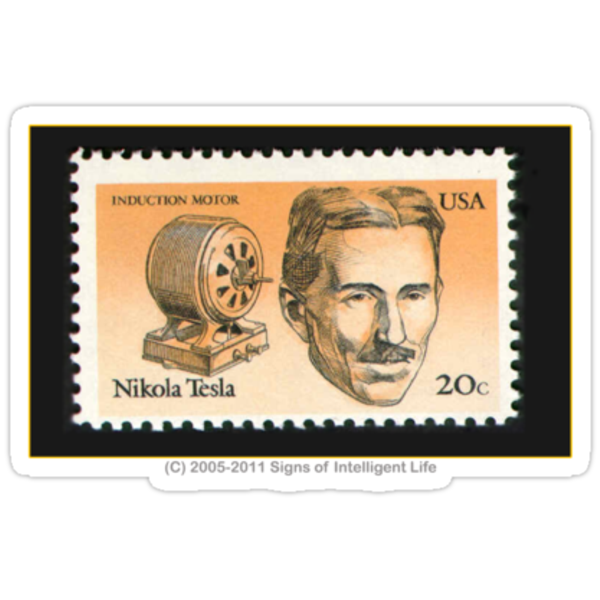 Tesla Stamp (United States) by SOIL