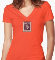 Tesla Stamp (Yugoslavia) III Women's Fitted V-Neck T-Shirt