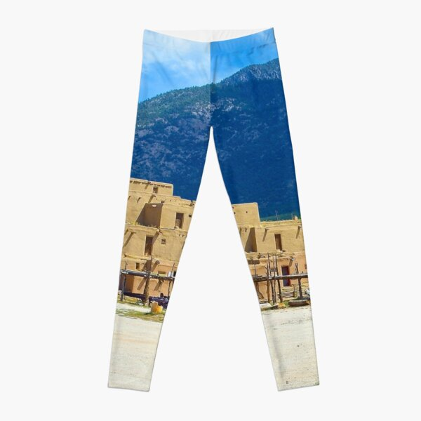 Taos Pueblo, New Mexico, an Endangered Culture Leggings