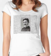 The Patents of Nikola Tesla Women's Fitted Scoop T-Shirt