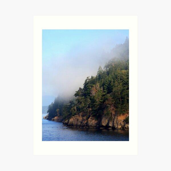 Galiano Island draped in morning mist Art Print