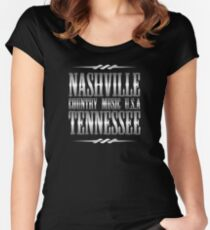 Silver Nashville Tennessee Country Music Women's Fitted Scoop T-Shirt
