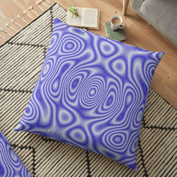 Blue Cosmic Liquid Pattern Floor Pillow