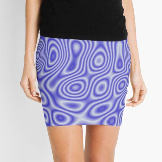 Blue Cosmic Liquid Pattern Mini Skirt
