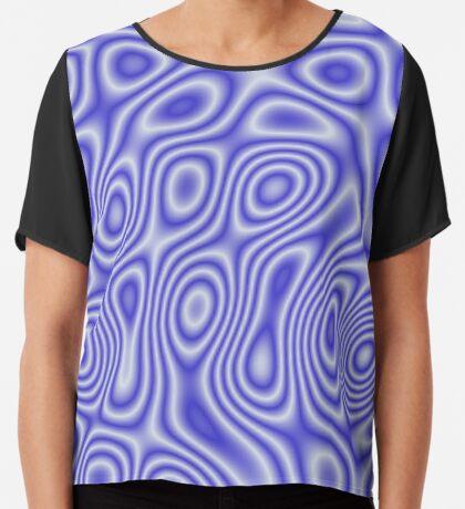 Blue Cosmic Liquid Pattern Chiffon Top