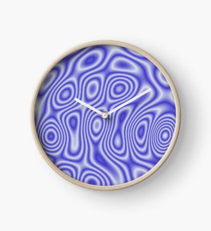 Blue Cosmic Liquid Pattern Clock