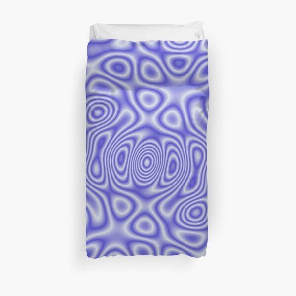 Blue Cosmic Liquid Pattern Duvet Cover