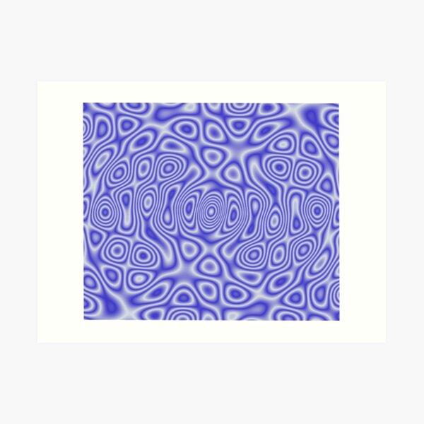 Blue Cosmic Liquid Pattern Art Print