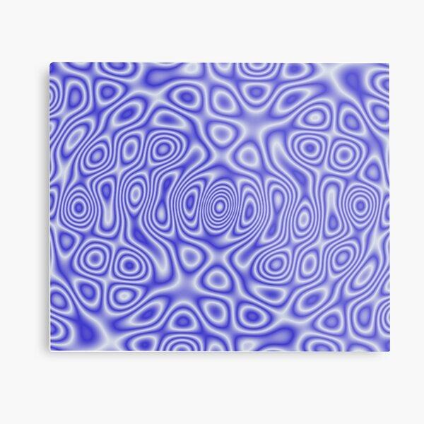 Blue Cosmic Liquid Pattern Metal Print
