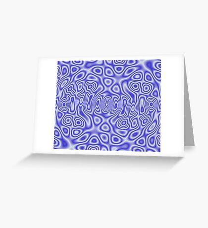 Blue Cosmic Liquid Pattern Greeting Card