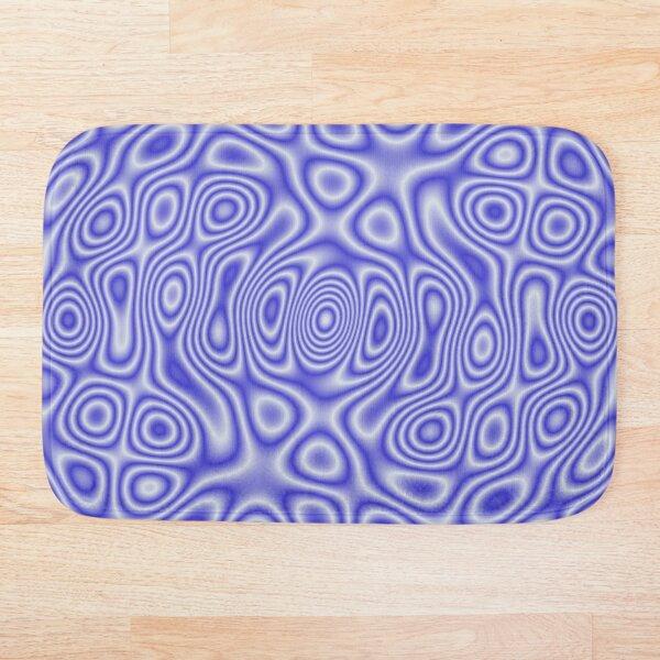 Blue Cosmic Liquid Pattern Bath Mat