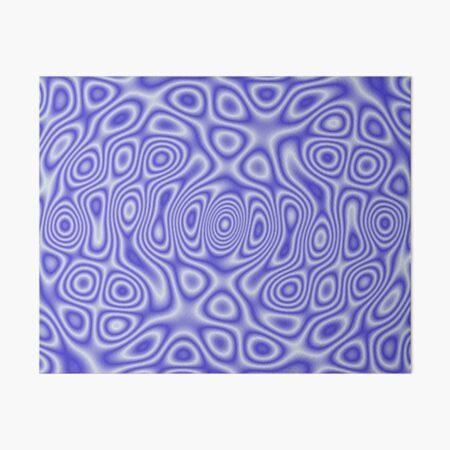 Blue Cosmic Liquid Pattern Art Board Print