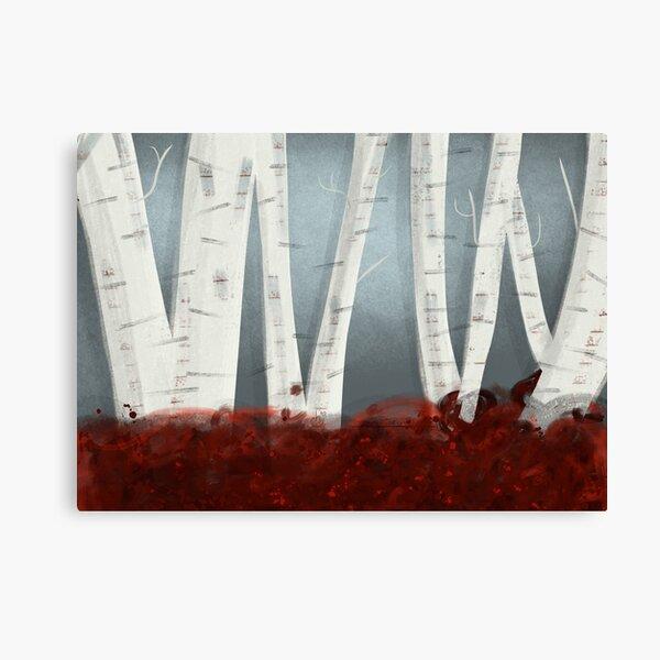 Modern Birchwood Art Print Canvas Print