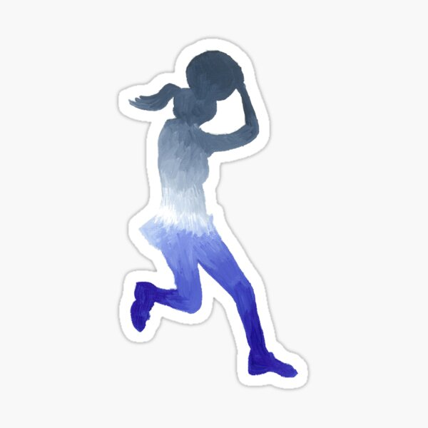 Netballer On The Run Sticker