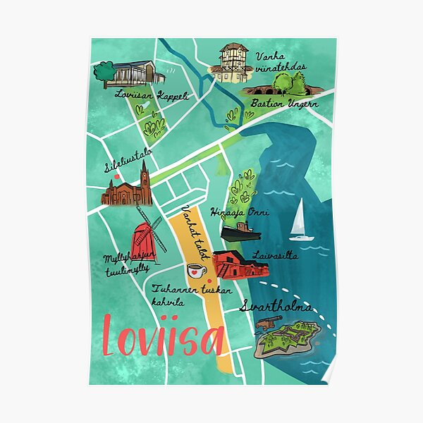 Map of Loviisa Poster