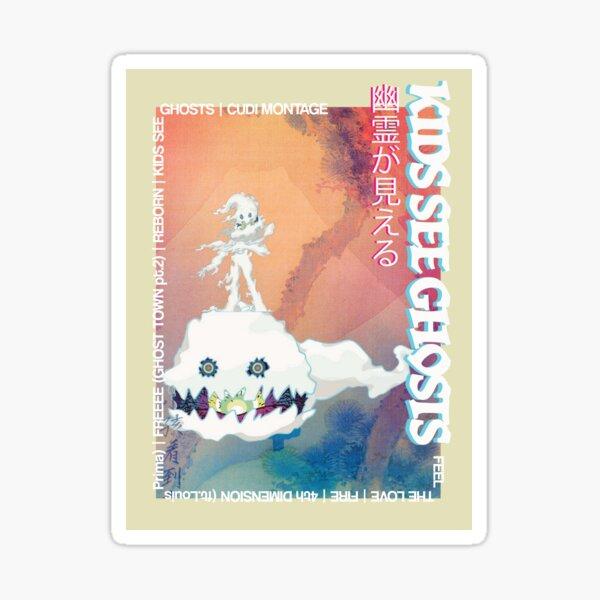 Kids See Ghosts Art Print  Sticker