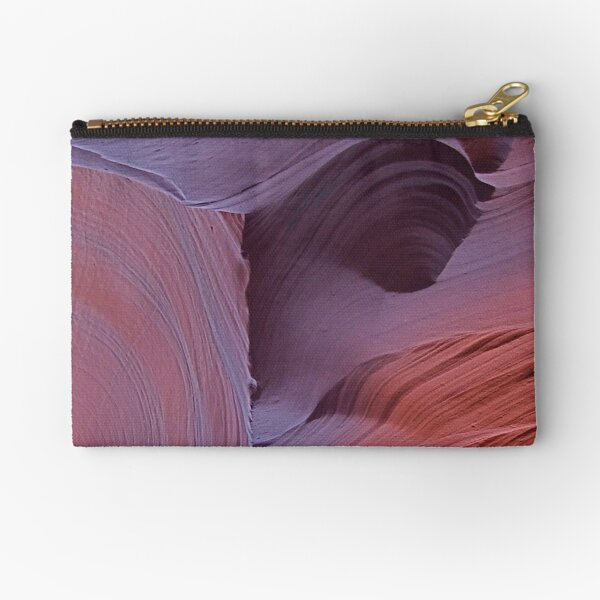 Abstract Lavender Wave Zipper Pouch