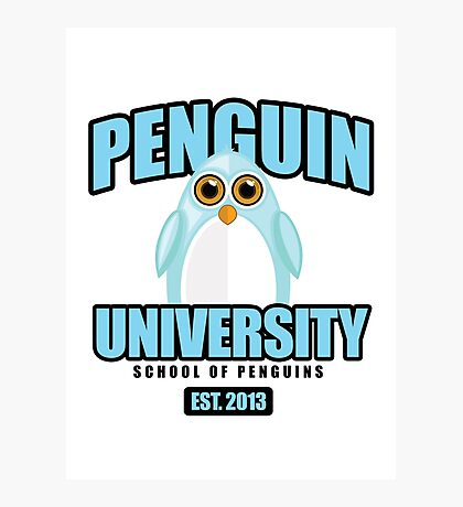 Penguin University - Blue Photographic Print