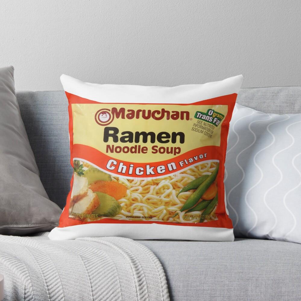 Ramen Noodle Pillow  Throw Pillow