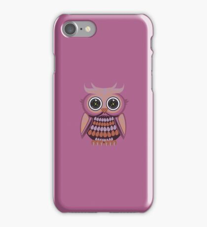 Star Eye Owl - Purple Orange 3 iPhone Case/Skin