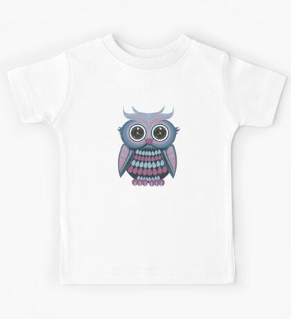 Star Eye Owl - Blue Purple Kids Clothes