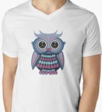 Star Eye Owl - Blue Purple T-Shirt