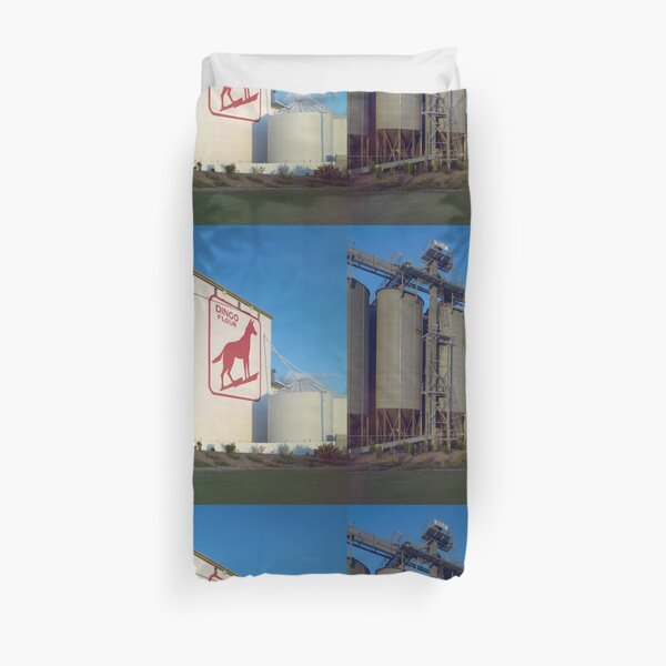 Dingo Flour, Great Southern Roller Flour Mills, North Fremantle, 4 July 1985, State Library of Western Australia Duvet Cover