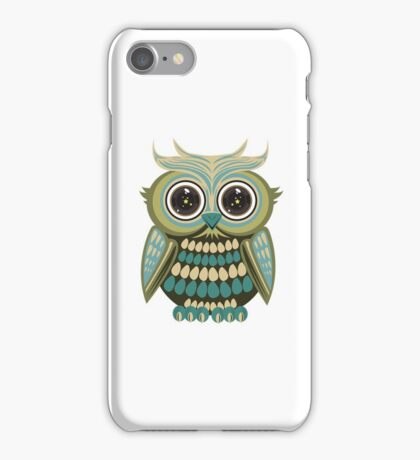 Star Eye Owl - Green 2 iPhone Case/Skin