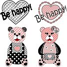 Be happy! Cute Teddy, Teddy bears  #findyourthing by fuzzyfox