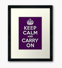 keep calm and carry on Framed Print