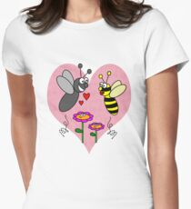 'Bee' my Valentine! Womens Fitted T-Shirt