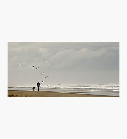 Beach Combers - Baylys Beach NZ Photographic Print