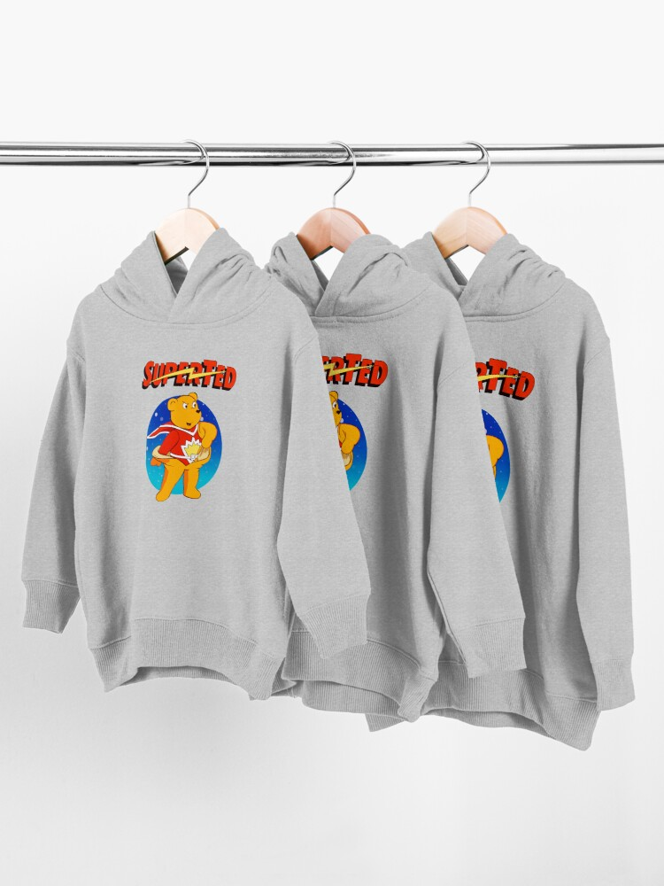Alternate view of Superted the retro teddy bear Toddler Pullover Hoodie
