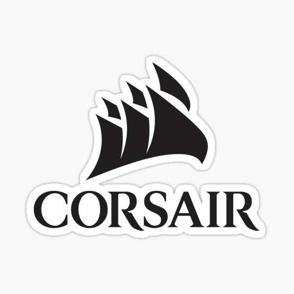 Corsair PC Component Logo Noir Sticker