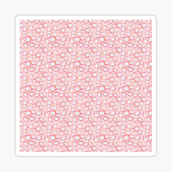 Pink Dragonfruit Watercolor Pattern Sticker