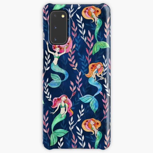 Merry Mermaids in Watercolor  Samsung Galaxy Snap Case