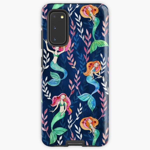 Merry Mermaids in Watercolor  Samsung Galaxy Tough Case