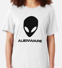 Alienware Dell Gaming logo Black Slim Fit T-Shirt