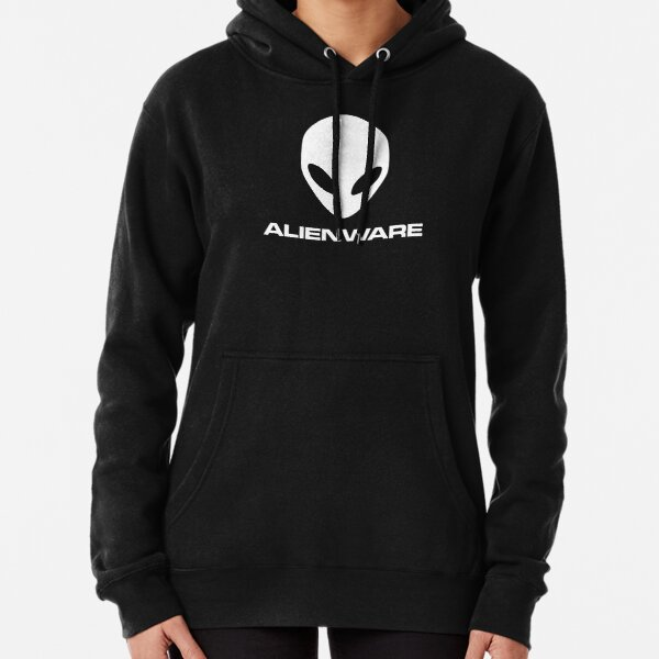 Alienware Dell Gaming logo White Pullover Hoodie