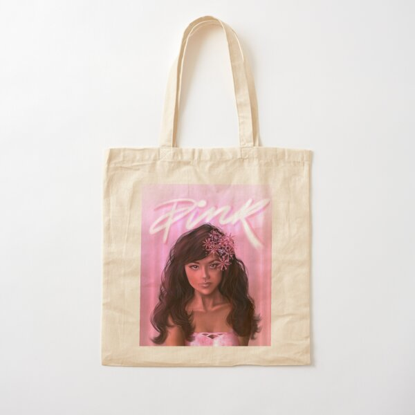 Pink Cotton Tote Bag