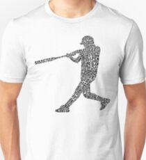 Softball Baseball Player Calligram Unisex T-Shirt